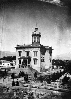Old San Bernardino County Courthouse building, 1874.