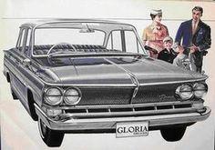 プリンス グロリアデラックスのカタログ - 車の形をした煙草入れ、ブリキのおもちゃ(玩具)と自動車グッツのコレクション。
