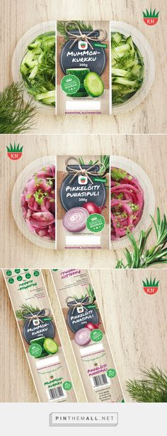 Product labels for Kasvishovi by Minna Viitalähde. Source: Behance. Pin curated by #SFields99 #packaging #design #inspiration #ideas #veggies #label #branding