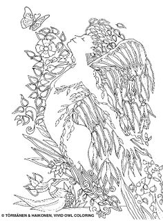 Secrets Beneath the Leaves (Adult Coloring Book) Adult Coloring, Coloring Books, Owl, Pictures, Etsy, Draw, Adult Colouring In, Vintage Coloring Books, Photos