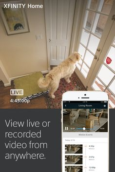 See what's happening in and around your home in real time with live video monitoring included in your monthly XFINITY Home service or add 24/7 Video Recording; you'll just need to purchase a camera.