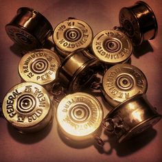 Copper, Glass and Recycled Trash: Shotgun Shell Lockets by Tracy Bell Bullet Shell Jewelry, Shotgun Shell Jewelry, Ammo Jewelry, Metal Jewelry, Jewelry Crafts, Antler Jewelry, Jewelry Ideas, Handmade Jewelry, Ammo Crafts
