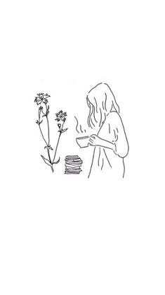 Ideas Flowers Sketch Outline Drawings For 2019 Outline Drawings, Easy Drawings, Outline Art, Doodle Drawings, Tattoo Drawings, Geometric Tatto, Art Du Croquis, Minimalist Drawing, Aesthetic Art