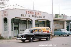 Changi Village scene, Singapore, 1961.