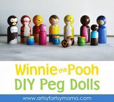 Winnie the Pooh Peg Dolls