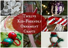 With Christmas right around the corner, we've pulled together 12 fun, but simple ornaments you can create with your little ones.