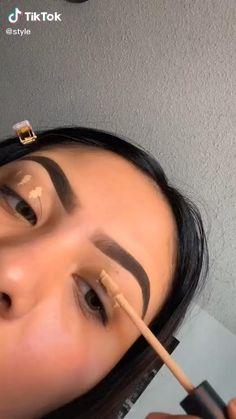 Eye Makeup Steps, Eye Makeup Art, Contour Makeup, Smokey Eye Makeup, Eyebrow Makeup, Eye Makeup Designs, Dark Skin Makeup, Dope Makeup, Baddie Makeup