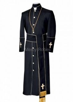 1ce8d371ce CLERGY ROBE STYLE BAE114 (BLACK GOLD) WITH BAND CINCTURE - Mens Clergy  Collection