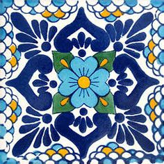 Decorate your home with these imported Mexican cobalt blue tiles for sale at La Fuente! All of our cobalt blue Mexican talavera tiles are delicately handcrafted in Mexico! Tiles For Sale, Talavera Pottery, Ceramic Pottery, Ceramic Art, Tuile, Spanish Tile, Spanish Bathroom, Mexican Art, Mexican Tiles