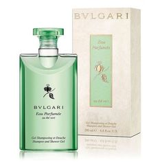 Bvlgari Eau Parfumee au the vert Shower Gel/6.8 oz. (1,705 THB) ❤ liked on Polyvore featuring beauty products, bath & body products, body cleansers, apparel & accessories, body cleanser, bath & body and bulgari