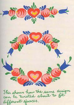 Pennsylvania Dutch style motif