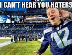 #Macklemore #Seahawks CAN'T HEAR YOU HATERS!!!