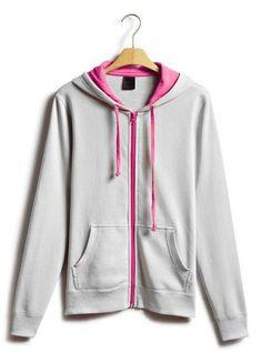 Gray Collision Energy Zipper Cardigan Sweatshirt$49.00