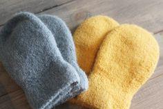 Kids felted mittens Pattern in Norwegian at www.mykenoster.no
