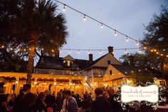 Rustic chic wedding reception at The Courtyard at Lake Lucerne – Dr. Phillips House.