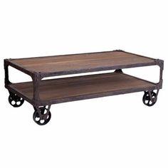 mesa hierro con ruedas industrial