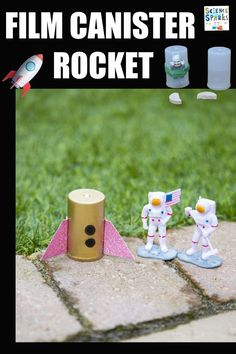 Make a film canister rocket and launch it! remeber to stand well back. Fun space science activity for kids #spacescience #scienceforkids #rockets Stem Science, Science Experiments Kids, Science For Kids, Space Activities For Kids, Space Crafts For Kids, Vitamin Tablets, Rockets, Canisters, Fun Learning