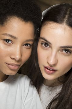 Lineisy Montero and Camille Hurel backstage at Anthony Camille Hurel, Lineisy Montero, Show Beauty, French Models, Anthony Vaccarello, Beauty Photos, Vogue Paris, Fall 2016, Backstage