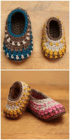 This Crochet Galilee Slippers Pattern has been so popular. It comes in child through to adult size and they are truly unique. Easy Crochet Slippers, Crochet Socks, Crochet Baby Booties, Cute Crochet, Crochet For Kids, Baby Slippers, Crochet Stitches, Bedroom Slippers, Crochet Bookmark Pattern