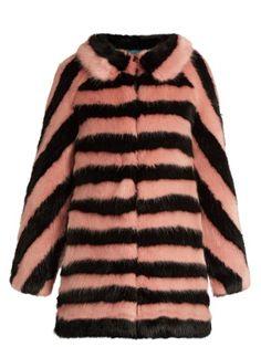 Jean striped faux-fur coat | Shrimps | MATCHESFASHION.COM US