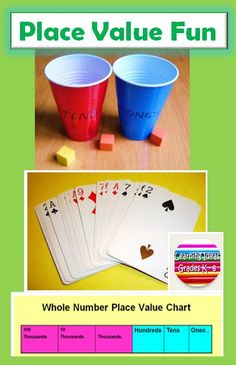 FREE GAMES.  Place Value Fun for Kids.  This page has 5 different games you can download to practice place value with your students.  Place value can be a challenging concept and varying the format and presentation can build a stronger math foundation.  Read more and get all the FREE directions at:  http://learningideasgradesk-8.blogspot.com/2014/08/math-fun-with-place-value.html