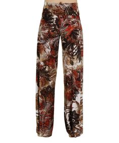 Loving this Rust Abstract Palazzo Pants on #zulily! #zulilyfinds