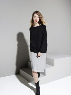 READY TO FISH Tulipa Black Sweater and Silene Skirt | La Luce www.shoplaluce.com