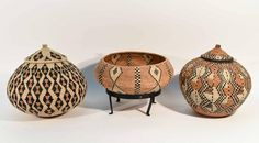 Lot: GROUPING OF ZULU BASKETS, Lot Number: 0686, Starting Bid: $10, Auctioneer: Westport Auction, Auction: MID-CENTURY, ANTIQUES, CIVIL WAR, FINE ART, Date: February 26th, 2017 EST