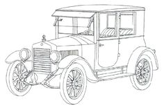 Classic Cars Coloring Pages | donatecarus.