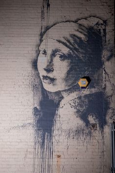 """Banksy """"The Girl with the Pearl Earring"""" is seen in Bristol"""