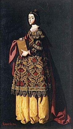 Saint Mathilda (1600s) - Francisco de Zurbaran