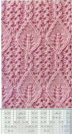 Красивые узоры для вязания в копилочку! Lace Knitting Stitches, Lace Knitting Patterns, Knitting Charts, Lace Patterns, Easy Knitting, Stitch Patterns, Knitting Projects, Design Textile, Knitting Tutorials