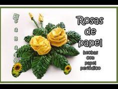 ▶ FLOR DE NOCHEBUENA HECHA CON PAPEL PERIODICO - Poinsettia made with newspaper (with translator) - YouTube