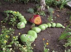 Hungry Caterpillar Garden Rocks...these are the BEST Rock Painting Ideas!