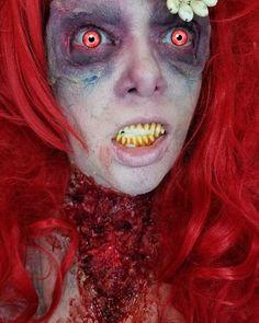 Zombie Arirl makeup Ariel Makeup, Horror Makeup, Halloween Face Makeup, Scary Makeup