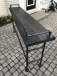 "Reclaimed Barn Wood Sofa Bar Table - 6 Foot - Ursula Jacobs - Reclaimed Barn Wood Sofa Bar Table - 6 Foot Obtain wonderful pointers on ""outdoor kitchen countertops wood"". They are offered for you on our internet site."