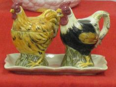 close up of what appears to be a chicken creamer and sugar on matching tray; RSOL Attic Sale April 4-6, 2014 from 9 AM to 2 PM and receiving every MWF from 10 AM to 2:30 PM through 3/31/14! — at 8010-8012 Staples Mill Road Richmond, VA 23228.