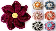 Crochet Crocodile Stitch Flowers