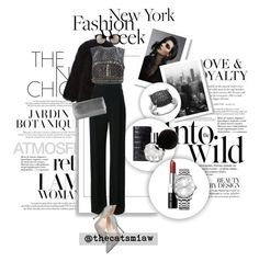 """""""Pack for NYFW! - Embellished"""" by thecatsmiaw ❤ liked on Polyvore featuring Louis Vuitton, Anja, Givenchy, Anne Sisteron, Alberta Ferretti, SJP, Bobbi Brown Cosmetics, Judith Leiber, Calvin Klein and Linda Farrow"""