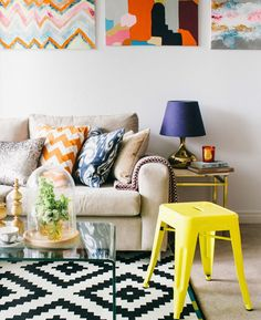 colorful and chic decor #decor #colors #livingroom