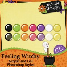 Feeling Witchy Acrylic and Gel Photoshop Styles