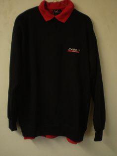 Case Ih Tractor Adult's Case Ih Red Polo Shirt Black Sweatshirt Set Sweat Jumper