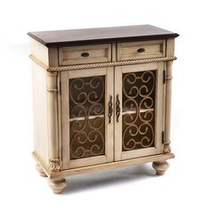Ivory Wood Brixworth Cabinet | Kirklands