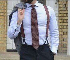 - Now that you have decided to discover the comfort and style of suspenders or braces, you are out to purchase one. You might want to simply show off a . Mens Braces, Best Suits For Men, Cool Suits, Mens Suits, Suspenders Outfit, Braces Suspenders, Sexy Beard, Pretty Men, Outfits