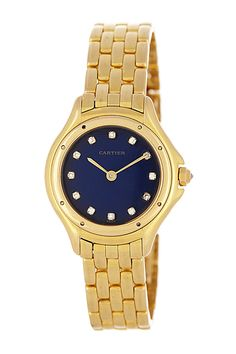 Vintage Cartier Women's Panthere Round 18K Yellow Gold Watch