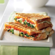 Broccoli Rabe-and-Provolone Panini - Rachael Ray Every Day