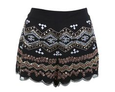 Miss Selfridge Embellished Shorts - high street new in store