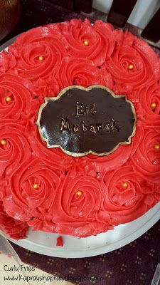 Chocolate and red buttercream Eid cake