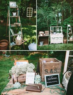 cool scenes  Rustic Chic Backyard Wedding: Michelle + Jimmy