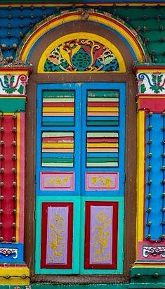 Lovely door - Little India, Singapore